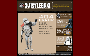 Funny 404 from 501st